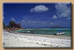 Strandabschnitt auf Curieuse