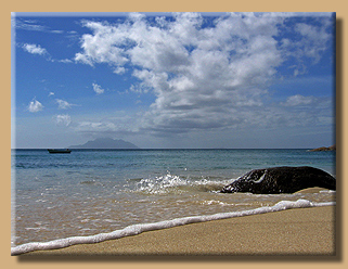 Badewannenwasser an der Anse Major