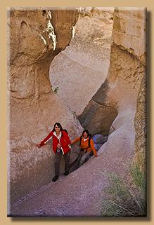 Unterwegs im Slot Canyon