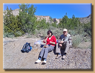 Picknick nach der Wanderung