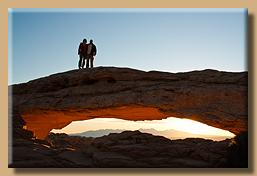 Auf dem Mesa Arch