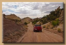 Unterwegs auf der Notom Bullfrog Road