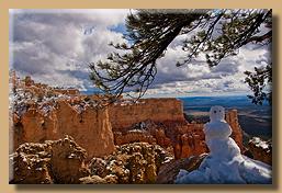 Schneemann im Bryce Canyon