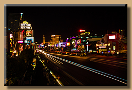 Las Vegas Strip mit dem Hotel New York - New York