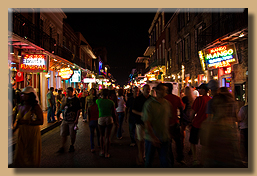 Bourbon Street at Night [1]