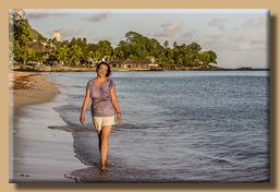 Morgendlicher Strandspaziergang
