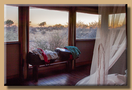 Kalahari Red Dune Lodge - Blick aus den Panoramafenstern