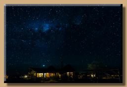 Fantastischer Sternenhimmel über der Kalahari