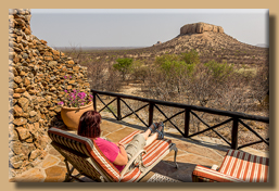 Wunderbarer Ausblick auf die Tafelberge von unserer Terrasse