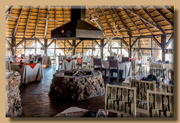 Das Restaurant der Vingerklip Lodge