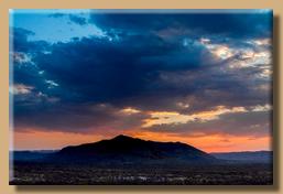 Ein fantastischer Himmel nach dem Sunset