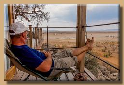 Relaxen auf der zweiten Terrasse