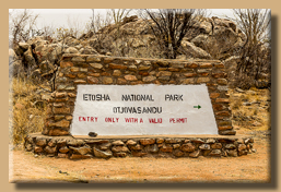 Welcome to the Etosha N.P.